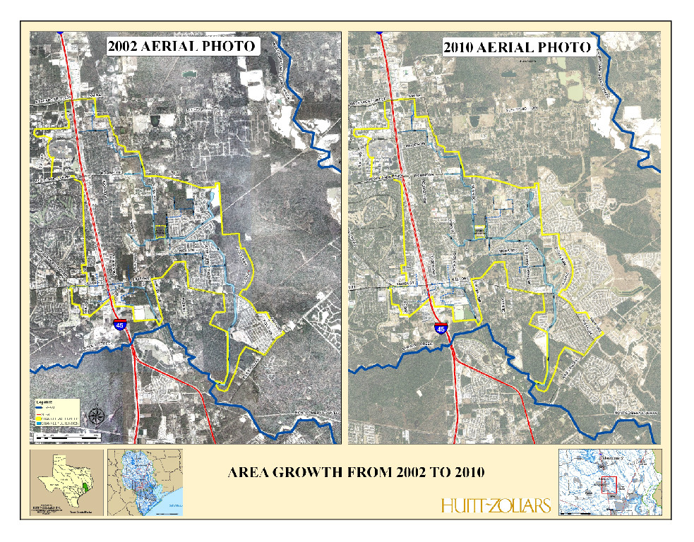 Area Growth Comparison from 2002 to 2010